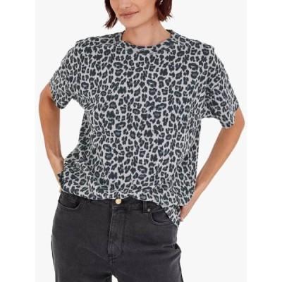 ハッシュ シャツ レディース トップス hush Leopard Print T-Shirt