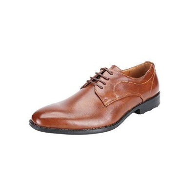 [メールコション] ビジネスシューズ 革靴 紳士靴 会社 ビジネス オフィス 通勤 軽量 ブラック ブラウン メンズ (25.5cm ブラウン)