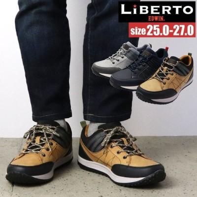 即納 [リベルト エドウィン] LIBERTO EDWIN  メンズ カジュアルシューズ 紐靴 レース スニーカー No.60802
