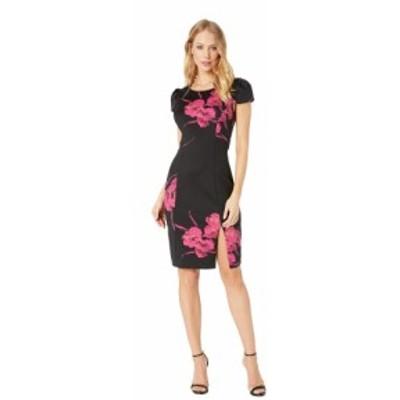 ベッツィ ジョンソン Betsey Johnson レディース ワンピース ミドル丈 ワンピース・ドレス Floral Scuba Midi Dress Black/Floral
