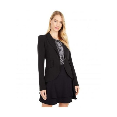 1.STATE ワンステート レディース 女性用 ファッション アウター ジャケット コート ブレザー Puff Sleeve One-Button Blazer - Rich Black