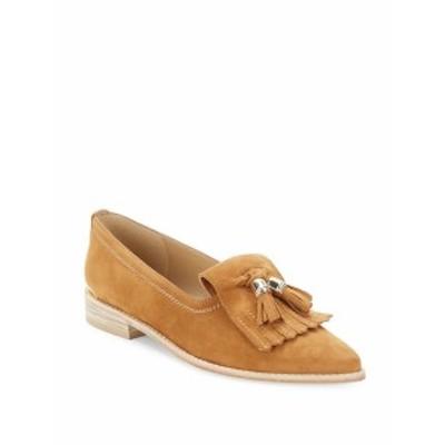 スチュアート ワイツマン レディース フラットシューズ Verve Leather Tassle Loafers