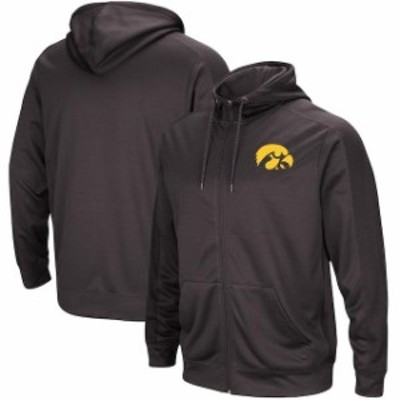 Colosseum コロセウム スポーツ用品  Colosseum Iowa Hawkeyes Charcoal/Black Big & Tall Take Over Full-Zip Hooded Jacket