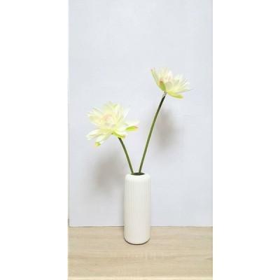 水蓮 2輪付 造花 花瓶付きフラワー 蓮
