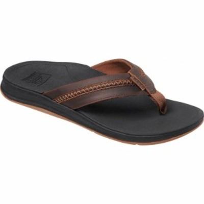 リーフ Reef メンズ ビーチサンダル シューズ・靴 Coast Leather Flip Flop Black/Brown Leather