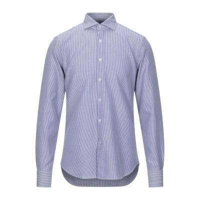 SONRISA 柄入りシャツ ファッション  メンズファッション  トップス  シャツ、カジュアルシャツ  長袖 ブルー