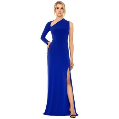 ベッツィアンドアダム レディース ワンピース トップス Long Jersey Asymmetrical Sleeve Gown