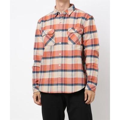 シャツ ブラウス ヘビーネルチェックシャツ