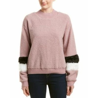 Allison  ファッション トップス Allison Balloon Sleeve Sweatshirt L Pink