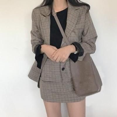 セットアップ ジャケット スカート ミニ カジュアル オシャレ 春 テーラージャケット 大人 w137