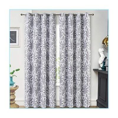 新品DriftAway Isla Paisley Floral Printed Pattern Blackout Room Darkening Thermal Insulated Grommet Lined Window Curtains 2 Panels Each 52
