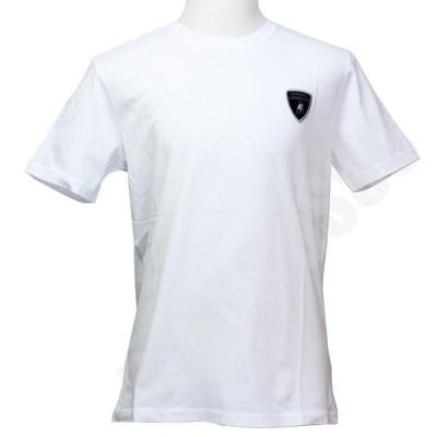 ランボルギーニ メンズ ベーシック シールド Tシャツ ホワイト 9011554CCW017