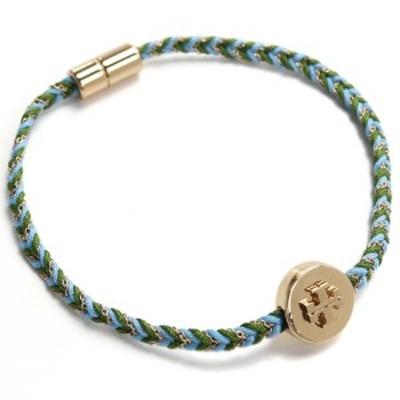 【新品】トリーバーチ TORY BURCH KIRA ITEM BRACELETS ブレスレット 78923 703 TORY GOLD/LIGHT BLUE ブルー系 マルチカラー accessory
