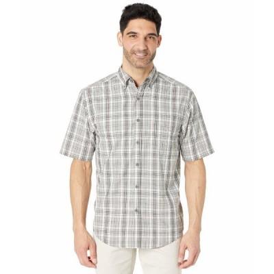 ウルヴァリン シャツ トップス メンズ Mortar Short Sleeve Shirt Concrete Plaid