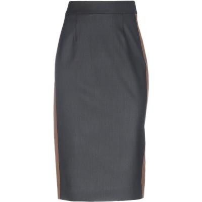 パロッシュ P.A.R.O.S.H. 7分丈スカート ブラック M バージンウール 95% / ポリウレタン 5% 7分丈スカート