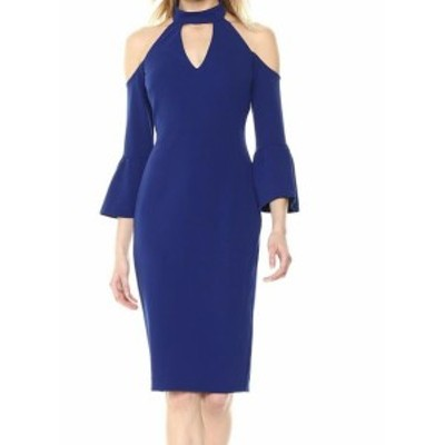 Rachel Roy レイチェルロイ ファッション ドレス Rachel Rachel Roy Womens Blue Size 8 Cold Shoulder Sheath Dress
