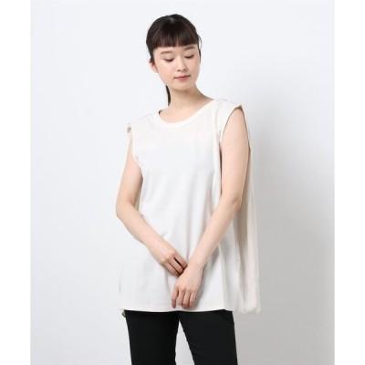 tシャツ Tシャツ バック異素材ノースリーブ