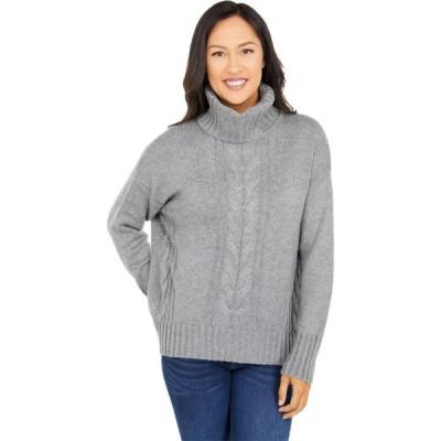 スプレンディッド Splendid レディース ニット・セーター トップス Cashblend Cable Sweater Heather Grey