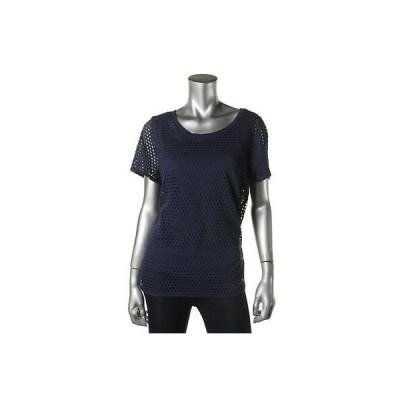 トップス&ブラウス Style & Co. Style Co. 3088 レディース 2PC Cut-Out 半袖 プルオーバーTop Shirt Plus BHFO