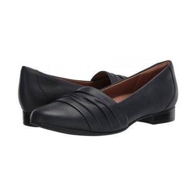 Clarks クラークス レディース 女性用 シューズ 靴 ローファー ボートシューズ Un Blush Vibe - Navy Leather