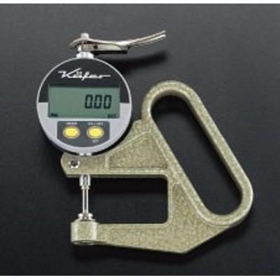 エスコ(ESCO) 0-10mm/0.01 デジタルシクネスゲージ EA725A-51