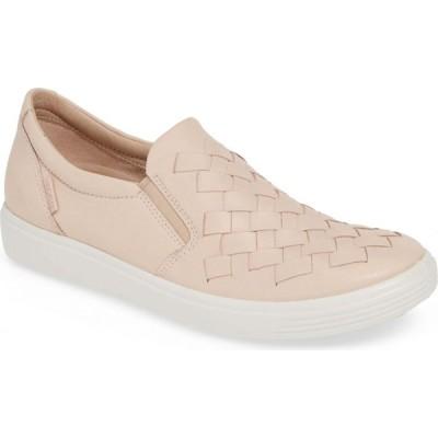 エコー ECCO レディース スリッポン・フラット スニーカー シューズ・靴 Soft 7 Woven Slip-On Sneaker Rose Dust Leather