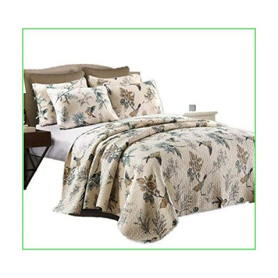 HNNSI Flying Birds Printing Queen Comforter Coverlet Sets 3 Piece, Comfy Cotton Home Collections Bedspread Quilt Bedding Sets