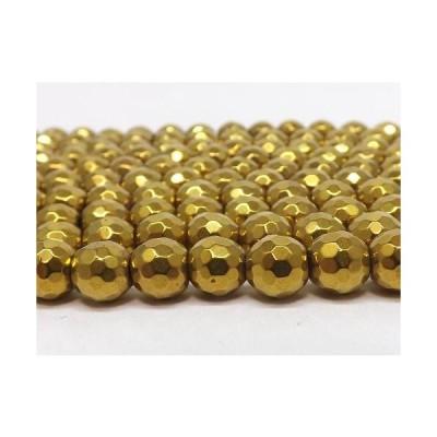ヘマタイト ゴールドカラー 128面カット 8mm 1連