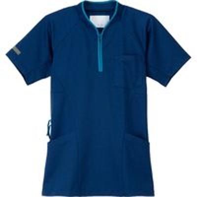 ナガイレーベンナガイレーベン ニットシャツ ネイビー SS JM-3177(取寄品)