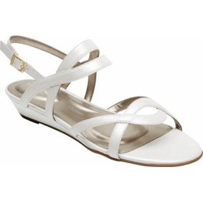 ロックポート レディース サンダル シューズ Total Motion Zandra Strappy Sandal White Leather