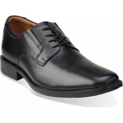 クラークス メンズ スニーカー シューズ Men's Clarks Tilden Plain Toe Oxford Black Leather