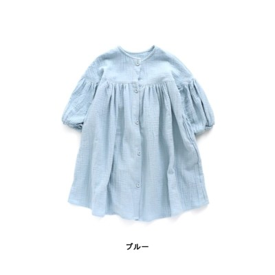 【apres les cours アプレ レ クール】Wガーゼ前あきワンピース ワンピース, Kids' Dress