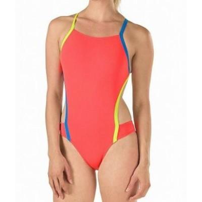 speedo スピード スポーツ用品 スイミング Speedo Womens Swimwear Orange Size 30 Cross Back Endurance One-Piece