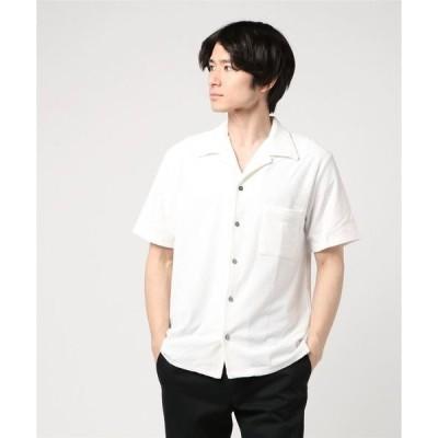 シャツ ブラウス VIBGYOR Select/ ランダムパイル オープンカラーシャツ (BL)