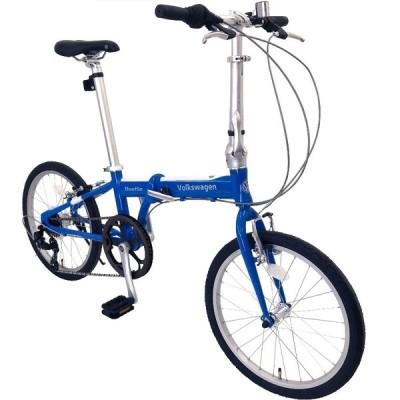 折りたたみ自転車 Volkswagen (フォルクスワーゲン) VW-207AL  Beetle/ BLUE