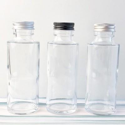 【ハーバリウム用ボトル】円柱型 ガラス瓶 100ml 高さ 124.4mm × 胴径 45mm   花材 植物標本