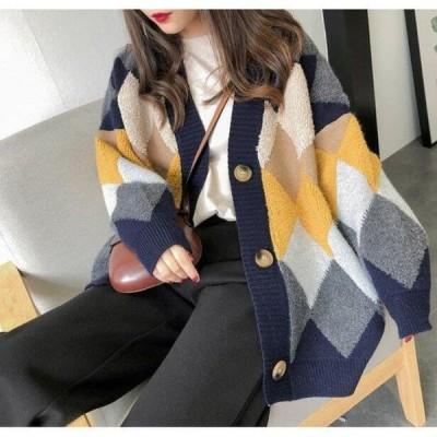 ニット レディース 秋服 暖かめ ハイネック シンプル ゆったり 体型カバー 長袖 秋冬ニット セーター