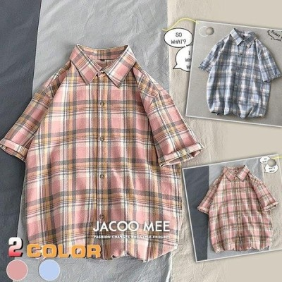 チェックシャツ メンズ シャツ カジュアルシャツ 半袖 ゆったり コットン シャツ ボタンダウンシャツ ビジネスシャツ トップス 夏 シャツ