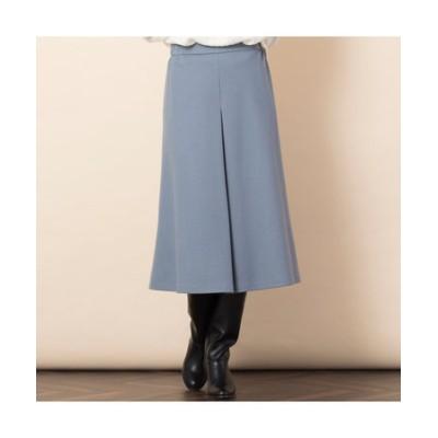 ウール圧縮スムース・タックAラインスカート