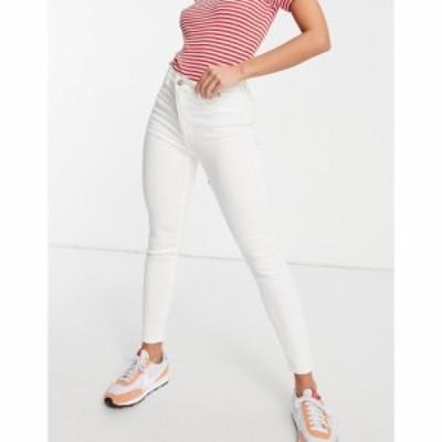 プルandベアー PullandBear レディース ジーンズ・デニム スキニー ボトムス・パンツ ultra skinny high waisted jean in white ホワイト