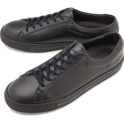 ヨーク YOAK メンズ スタンレー STANLEY レザースニーカー 日本製 靴 BLACK ブラック系   SS19