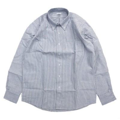 THE BAGGY OXFORD L/S BD SHIRTS  BLUE STRIPE オックスフォード ボタンダウンシャツ バギー ストライプ