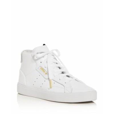 アディダス レディース スニーカー シューズ Women's Sleek Mid-Top Sneakers White/White