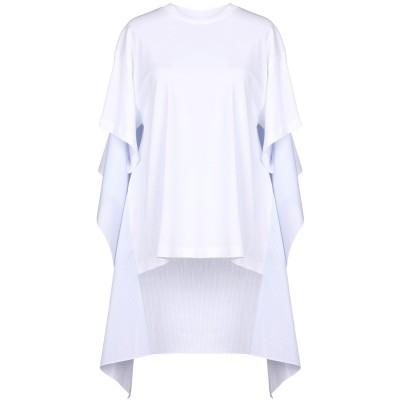 MM6 メゾン マルジェラ MM6 MAISON MARGIELA T シャツ ホワイト M 100% コットン ポリウレタン T シャツ