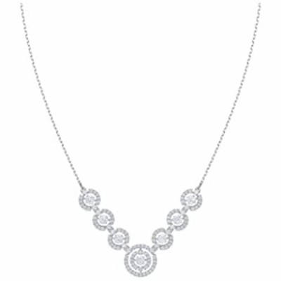 SW Sparkling Dance Necklace, White, Rhodium Plated