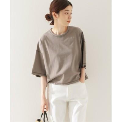(FRAMEWORK/フレームワーク)配色ステッチTシャツ/レディース ブラウンD