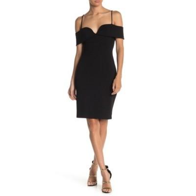 ベベ レディース ワンピース トップス Cold Shoulder Mini Dress BLK