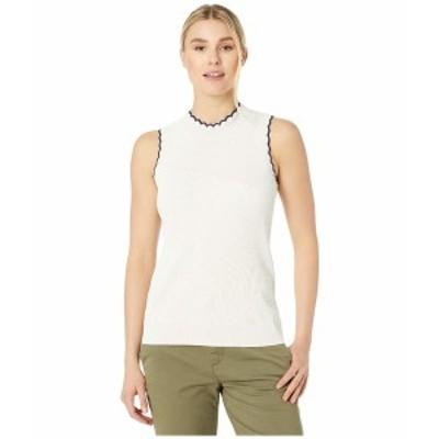 ニックプラスゾーイ レディース ニット&セーター アウター Scallop Sweater Tank Milk White Heather
