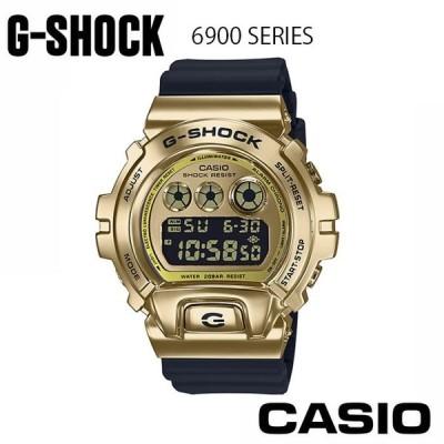 【正規販売店】CASIO カシオ G-SHOCK G-ショック 腕時計 メンズGM-6900G-9JF  メタル ウレタン クオーツ デジタル 黒 ブラック 金 ゴールド