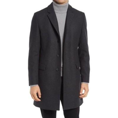 ヒューゴ ボス HUGO メンズ コート アウター Migor Wool Blend Overcoat Charcoal